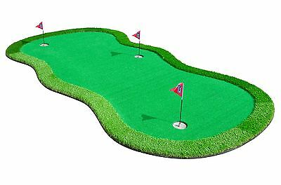 Giant Golf Putting Mat Green - Christmas Gift For Him Indoor Outdoor Practice 3m