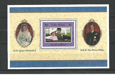 Bahamas 1997 Queens Golden Wedding M-Sheet Sg,ms1120 U/m Nh Lot 1347A