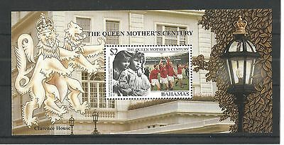 Bahamas 1999 Queens Mother Centenary Minisheet Sg,ms1188 U/m Nh Lot 1350A