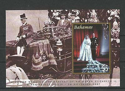 Bahamas 2007 Queens Diamond Wedding Anniv Minisheet Sg,ms1457 U/m Nh Lot 1351A