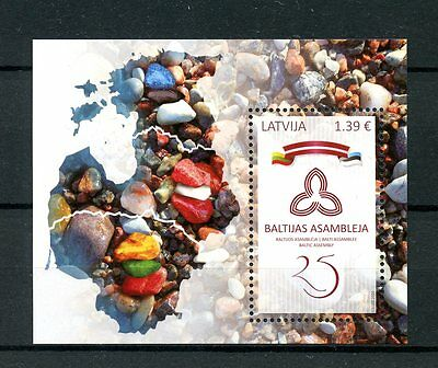 Latvia 2016 MNH Baltic Assembly 25th Anniv 1v M/S Flags Stamps