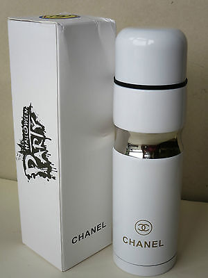 Chanel Vip Gift White Stainless Steel Vacuum Seal Thermos 500 Ml