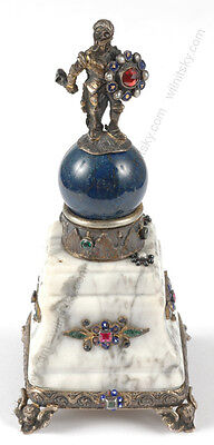 """""""Austrian Neorenaissance model of a monument"""" silver and stones, 19th century"""