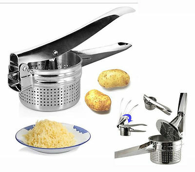 Stainless Steel Hand Held Potato Masher Ricer Puree Fruit Juicer Press Maker