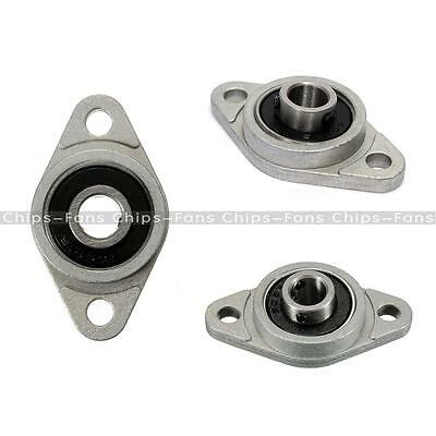 1 Pair 8mm Bore Diameter KFL08 Pillow Block Bearing Flange Rhombic Bearings 2PCS