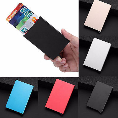 Mens Womens Aluminum Slim ID Credit Card RFID Protector Holder Purse Wallet New