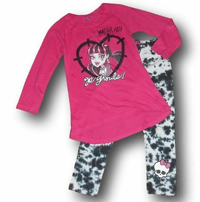 Lotto completo miniabito set maglia leggings Monster High bimba bambina 8 anni