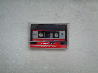 Vintage Audio Cassette MAXELL UR 90 From 1986 - Excellent Condition !