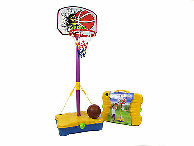 Kids Basketball Set Complete in Carry Case. Outdoor. Free Standing. 161cm. High.