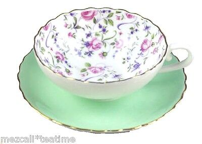 Eliza Green Vintage Style  Bone China Teacup and  Saucer  Set *150 mls