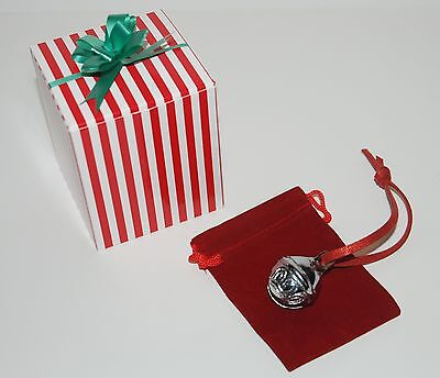 CHRISTMAS SLEIGH BELL Polar Express Like Candy Cane Box Hear The Ringing Bell