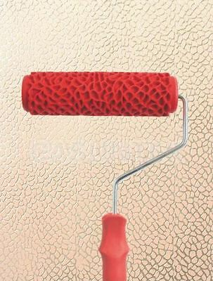 Snakeskin Animal DIY Embossed Pattern Paint Roller 18cm Wall Texture Stencil