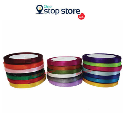 6mm SATIN RIBBON Silk Ribbons 20 ROLLS For Birthday Parties Gifts Wrapping