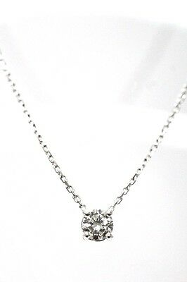 COLLIER OR BLANC 18 CARATS  750/000 DIAMANT 0.78 CT  F SI 1  4 grs 45 cm R75090