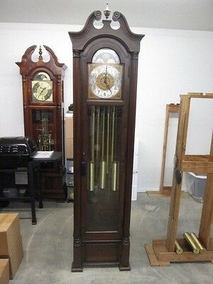 Howard Miller 5 Tubular Chime Grandfather Clock  Running, Chiming, & Striking