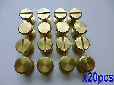20Pcs10×6mm Leather Craft Belt Wallet Solid Brass Nail Rivets Chicago Screws