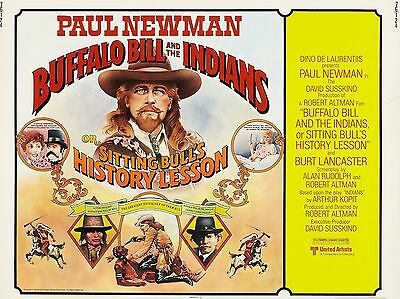"Buffalo bill and the Indians 16"" x 12"" Reproduction Movie Poster Photograph"