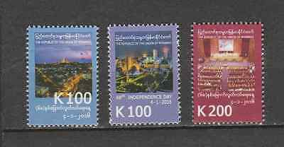 Myanmar(Burma) 2016 Independence Day Issue Full Set MNH