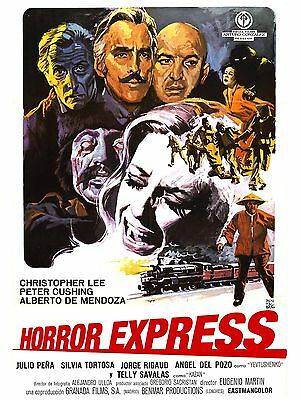 """Horror Express 16"""" x 12"""" Reproduction Movie Poster Photograph"""