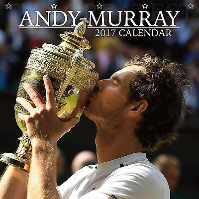 Andy Murray Calendar 2017 with free pull out poster