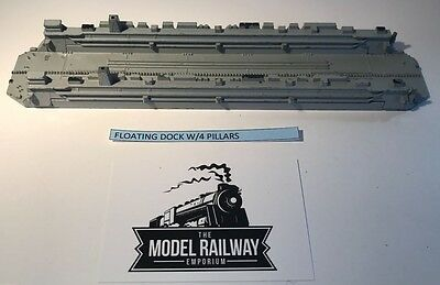 Vintage Triang Minic Ships - M885 - Floating Dock 3 Pce - Rare Unboxed Diecast