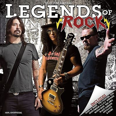 Legends of Rock Calendar 2017 with free pull out poster