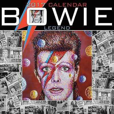 David Bowie Calendar 2017 with free pull out poster