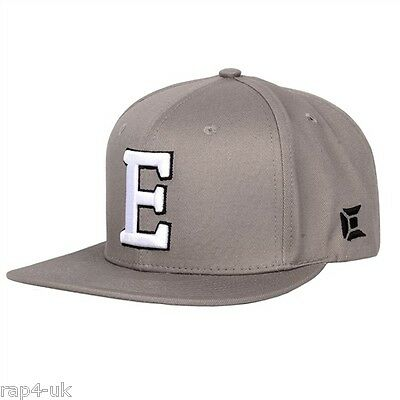 Exalt Concrete FlexSize Cap - grey with large E embroided on front Small - XL