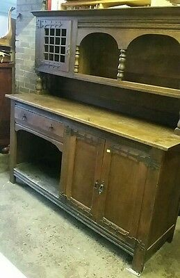 Antique old oak dresser
