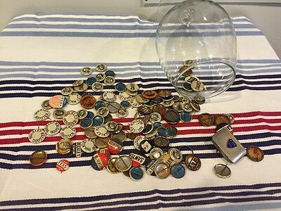 Mixed Lot Of Vintage Political Buttons Found At Estate Sale