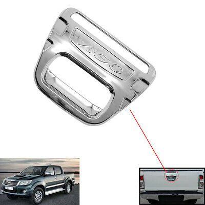 TOYOTA HILUX 2012-16 CHROME TRIM TAILGATE TAIL GATE HANDLE Insert COVER *UK SELL