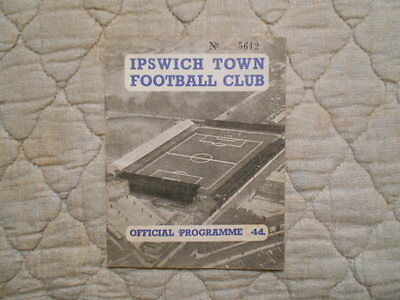 Ipswich V Swansea Town Second Division Signed Match Programme 1959