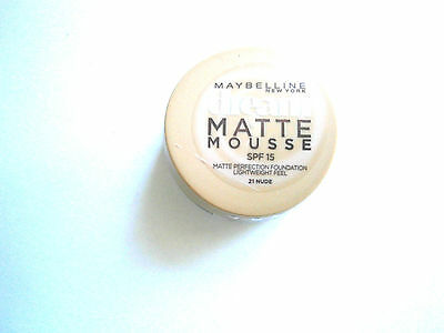 MAYBELLINE DREAM MATTE MOUSSE FOUNDATION 18ml - VARIOUS USE DROP DOWN MENU