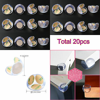 20pcs Silicone Corner Protector Baby Child Safety Cushion Table Desk Edge Guard
