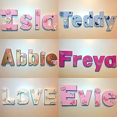 Personalised name letters baby christening gift birthday wall door sign plaque
