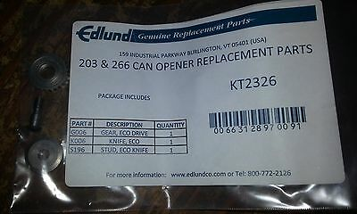 Edlund Electric Can Opener repair Kit #2326 1 Gear 1 Knife 1 Stud Fits 203 266