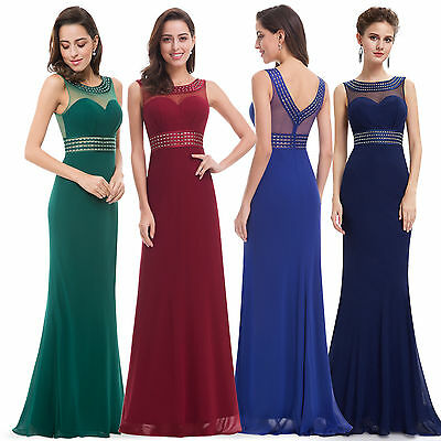Dress Evening Party Uk Formal Long Cocktail Prom Bridesmaid Gown Wedding Womens