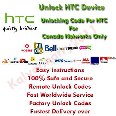 HTC VIDEOTRON CANADA network unlock code for HTC One S
