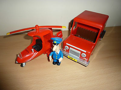 Postman Pat Helicopter And Van With Pat Figures