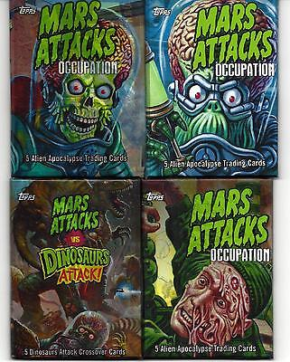 Mars Attacks Occupation HOT PACKS 4 DIFFERENT SKETCH-HERITAGE- DINOSAURS & LUCKY