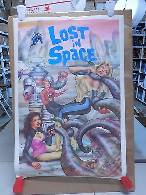 SIGNED VINTAGE LOST IN SPACE POSTER 1992 MIKE OKAMOTO 36x24 18/500 THE INNOCENTS