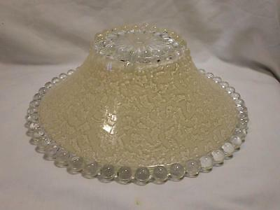 vintage Art Deco 1920s-30s cream glass Ceiling light SHADE globe cover fixture 1