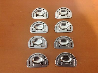 598 VTG Small Mission Drawer Pulls In Stainless Steel , Recess Type 8 available
