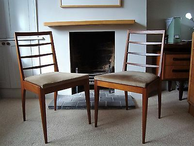 Pair of teak Mcintosh chairs. Vintage, mid century, retro.