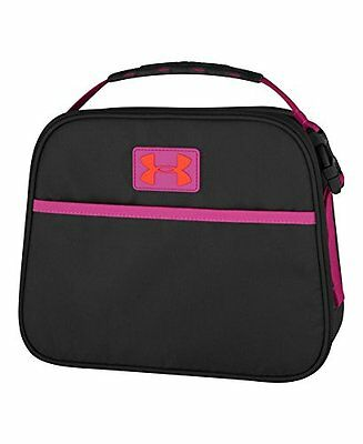 Under Armour Lunch Cooler Food Keeper Bag Meal Container Carrier Lunchbox Black