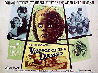 """Village of the Damned 1960 16"""" x 12"""" Reproduction Movie Poster Photograph"""