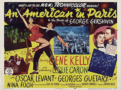 """An American in Paris 1951 16"""" x 12"""" Reproduction Movie Poster Photograph"""