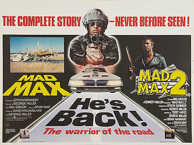 "Mad Max / Mad Max 2 1979 16"" x 12"" Reproduction Movie Poster Photograph"