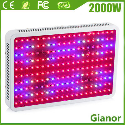 2000W LED Grow light Panel Indoor Plant Hydroponic Veg Bloom Full Spectrum Lamp