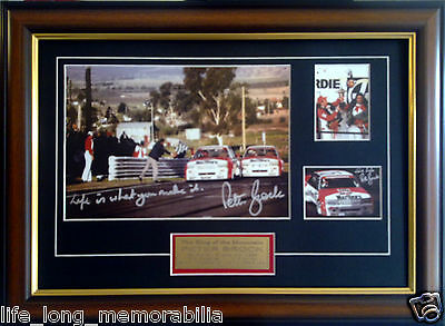 Peter Brock 1984 Bathurst Winner Famous One Two Finish Signed And Framed